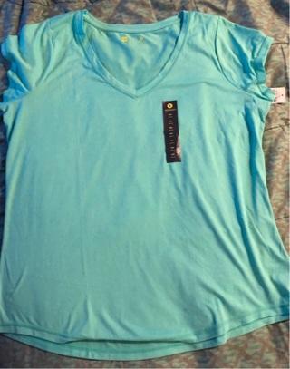 BNIP Sz XXL, Lt Green JCPenney XERSION Performance Tee Shirt