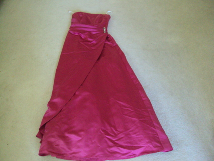 David's Bridal Begonia Pink Prom Bridesmaid Dress Gown Size 6