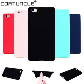 COATUNCLE TPU Soft Cases Huawei P8 lite Case Slim 360 Protect Candy Color Silicon Back Cover Huawe