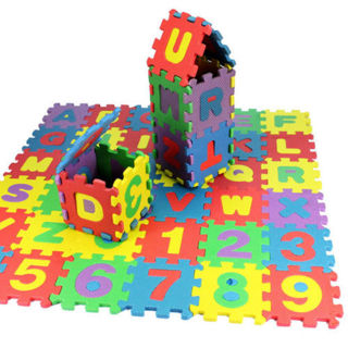 Multicolor alphanumeric puzzle for baby