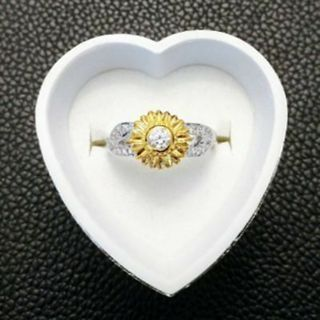 Size 6 7 8 9 10 Bridal Gift Wedding Flower Jewelry Sunflower Rings Proposal 8