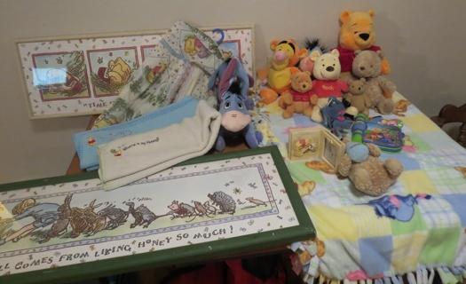 Free newborn baby winnie the pooh classic nursery wall for Classic pooh nursery mural
