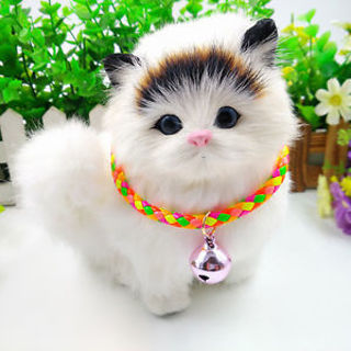 Adjustable Candy Colors Cat Dog Bell Collar Colorful Dog Puppy Pet Neckline Bell