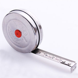 2m Mini Office Stainless Steel Woodworking Retractable Tape Measure Metric
