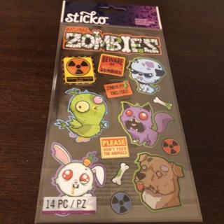 Sticko zombie animal stickers