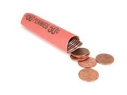 One Roll COPPER Pennies '56 to '71
