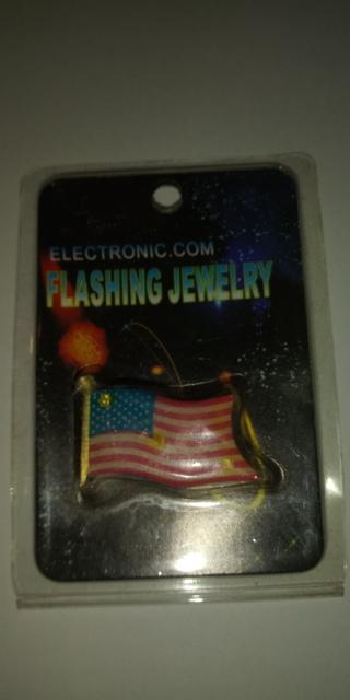Light-Up American Flag Pin