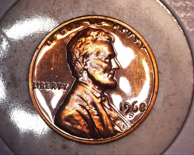 1968 s beautiful tone proof lincoln penny