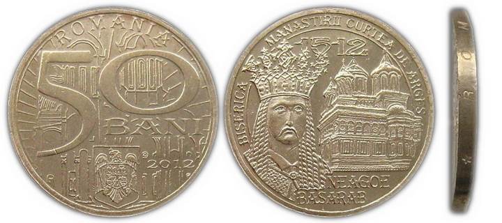 50 Bani Romania (2012)Neagoe Basarab Shipping is free !!