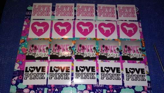 ❤❀❤20 BRAND NEW VICTORIA SECRET(LOVE PINK) STICKERS.❤❀❤