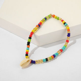 2020 Boho Sea Shell Anklet Colorful Beads x1
