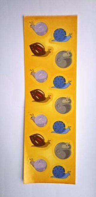 Vintage Stickers - snails