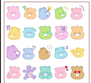 """⭐❇⭐❇⭐20 BRAND NEW LARGE """"CARE BEAR"""" STICKER FLAKES⭐❇⭐❇⭐"""