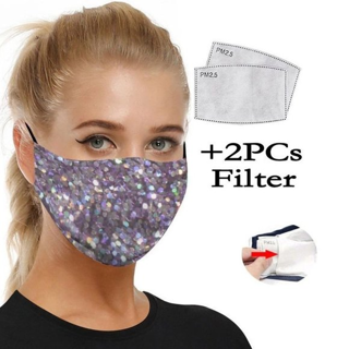 NEW Purple Color Art Print Face Mask Fashion 2 Filters FREE SHIPPING