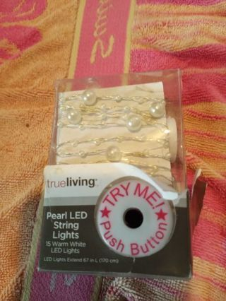 working,new in pack LED PEARL STRING LIGHTS,2ND PIC SHOWS THEY DO WORK