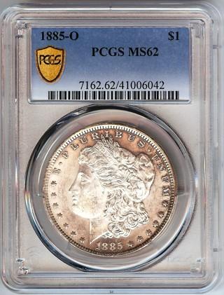PCGS MS-62 1885-O CAMEO Morgan Silver Dollar