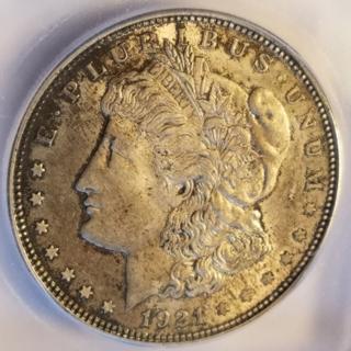1921 Morgan Silver Dollar MS63 ICG