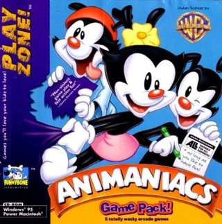 Used Animaniacs Game Pack Computer Game for Windows 95