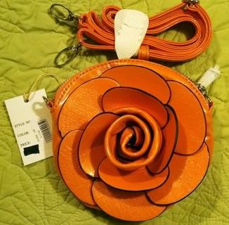 Orange Flower Purse