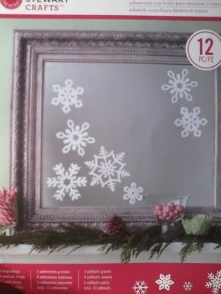 Free Martha Stewart Snowflake Window Or Mirror Clings Christmas