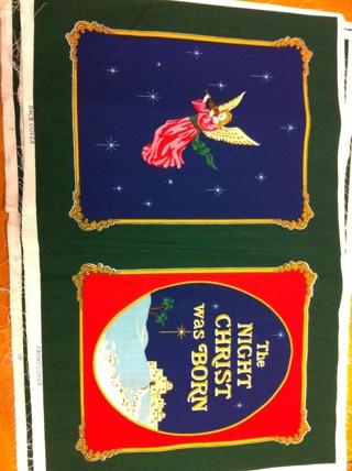 The Night Christ Was Born Fabric Book Panel Vivid Color - Pre-cut