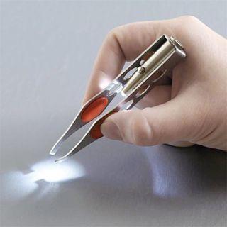 [GIN FOR FREE SHIPPING] Mini Light Eyelash Removal Tweezer Clip Make Up Led