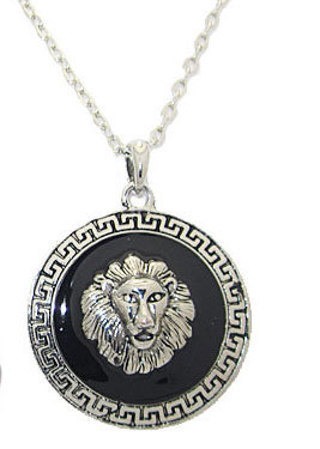 LION PENDANT WITH CHAIN WHITE OR YELLOW GOLD!!!