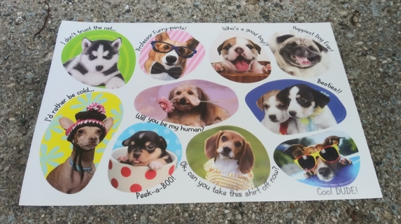 DOG STICKERS 3 SHEETS LOT 1