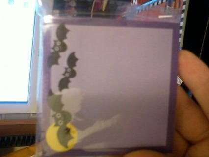 Halloween Bats Post it Notes
