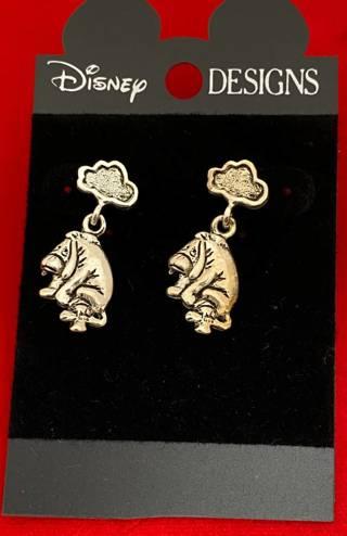 Disney earrings Eeyore carded Silver Disneyana NWT