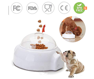 Adusa Pet Launcher Toy, Fun Interactive Treat Food Dispenser Thrower Toy