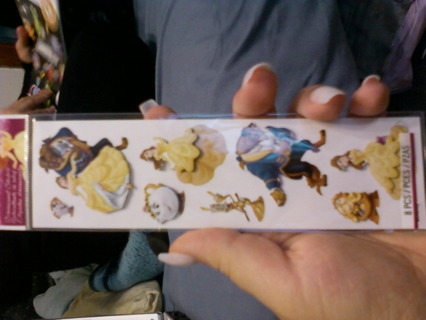 Beauty & The Beast Dimensional Stickers