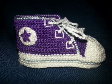 Free 0 To 3 Months Crochet Converse Tennis Shoes Pattern