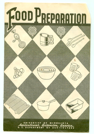 Vintage Food Preparation 4-H Club Booklet Recipes 1947