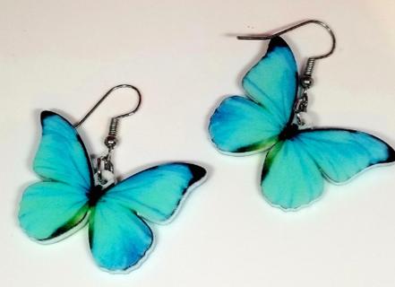 Morpheo butterfly blue drop earrings New free shipfree ship