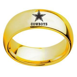 Dallas Cowboys Football Team Stainless Steel Rings