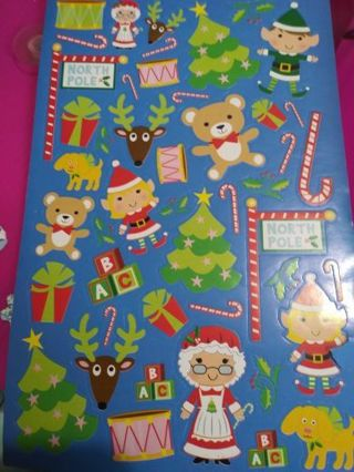 Toy Christmas sticker sheet! Lowest gins! No refunds! No lower! Selling out all!