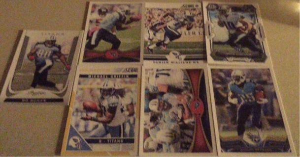 Tennessee Titans 7 Card Lot