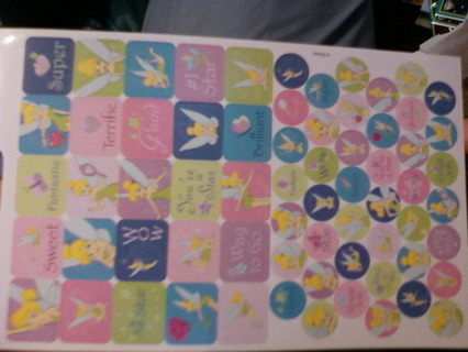 Square & Circle Tinkerbell Stickers # 2