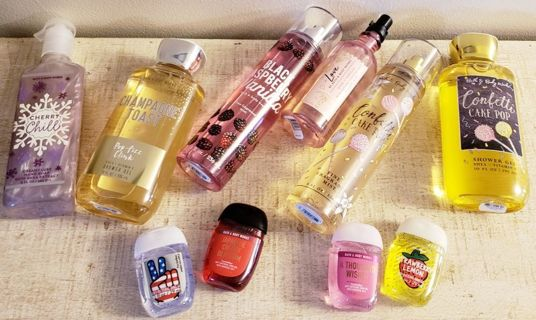 10pc Mixed Bath & Body Works Lot! Body Wash, Body Spray, Pocket Bacs, Hand Soap, Pillow Mist!