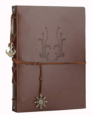 ⭐️⭐️⭐️⭐️Scrapbook Photo Album,Memory Book Vintage Leather with 60 Black Pages