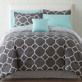 NEW! Studio Tiles Complete Comforter Set Bedding Set With Sheets & Accessories