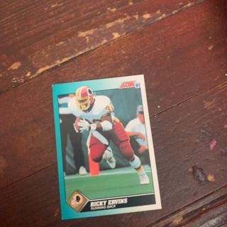 Football card Ricky Ervin's