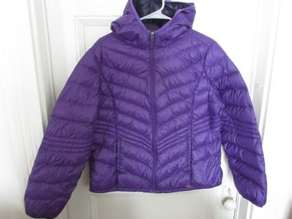 Purple Packable Down Jacket- Xersion- Sz XL