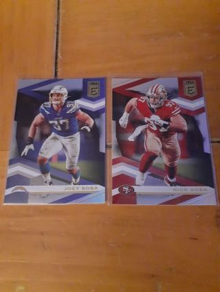 You are bidding on a 2020 Elite Bosa brothers 2 card lot.