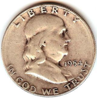 1954-S KEY Franklin Half Dollar