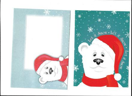 Christmas Card Unused With Envelope Santa Bear