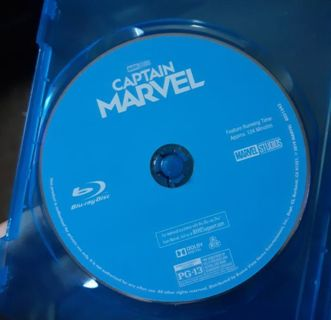CAPTAIN MARVEL MOVIE STARRING BRIE LARSON BLU-RAY DISC ONLY