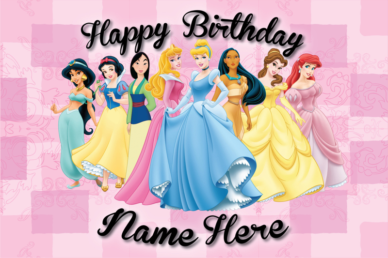 Free Printable Princess Birthday Cards World Of Printable And Chart