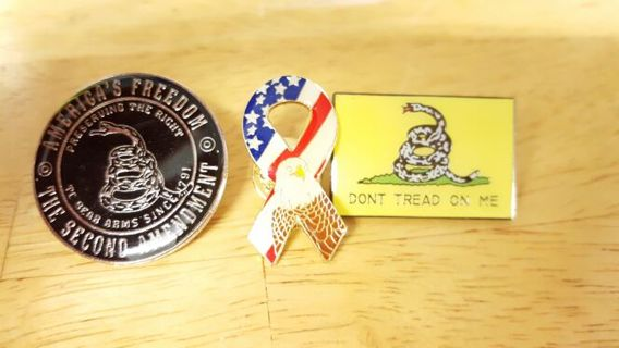 3 Collectable Military Pins
